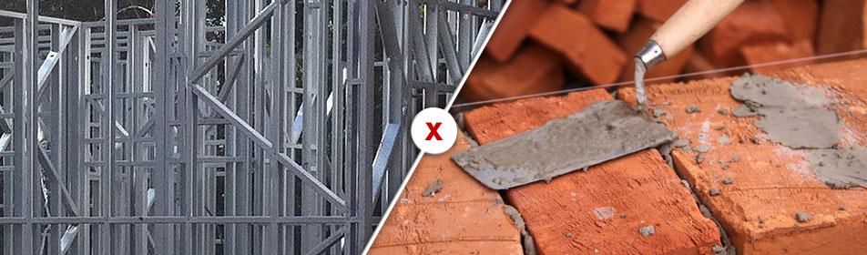 steel frame ou alvenaria