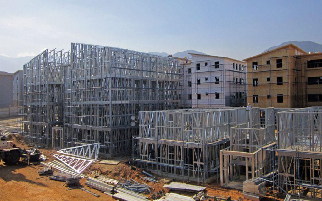 pre fabricado steel frame