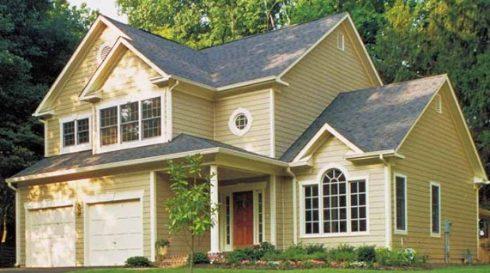Casa americana com siding o blog do sistema light steel for Casas americanas fachadas