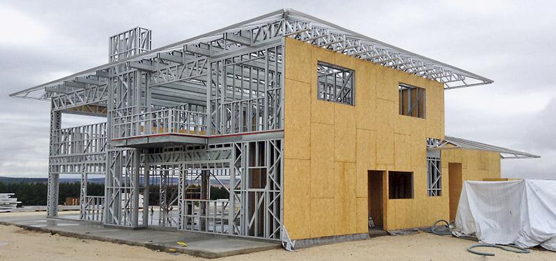 steel frame em casas americanas