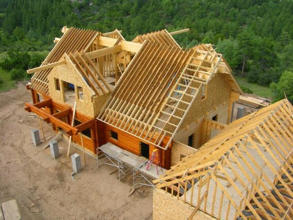 wood frame em casas americanas