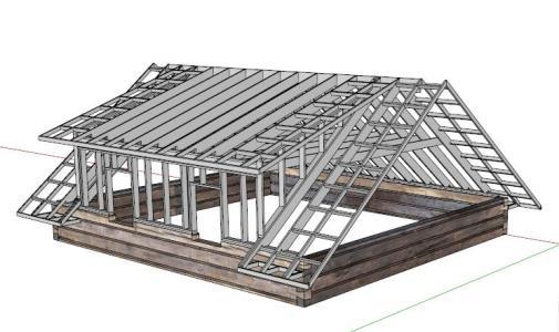 projeto steel frame em telhado
