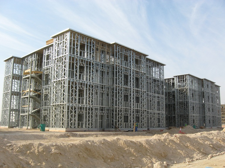 obra em estrutura steel frame