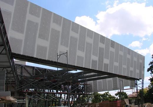 construção steel frame com placa cimenticia