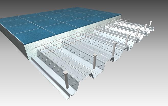 steel deck ou laje mista